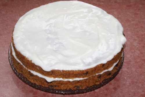 """Carrot Cake with """"Cream Cheese"""" Frosting"""